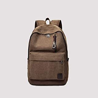 PANFU-AU Water Resistant Big Business Backpack Retro Simple Small Bag Retro Simple Small Backpack Bag Laptops Notebook Bag (Color : Brown)