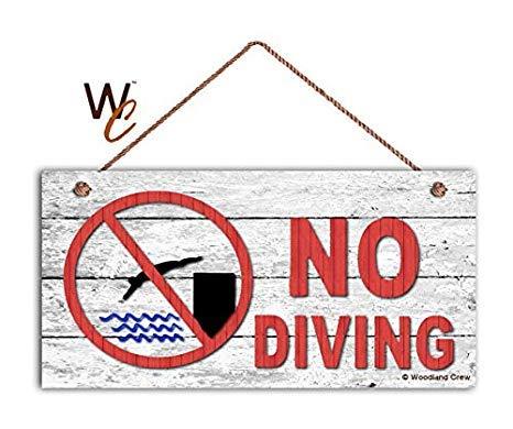 No Diving Schild Schwimmbad Schild Pool Gate Schild 5 870243