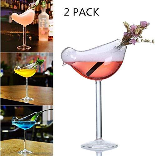 Kreative Vogel-förmige Glasweinglas, Persönlichkeit 135ml Hoch Vogel Glas Personalisierte, Bar Rauch Molecular Cocktailglas, benutzt für die Parteien