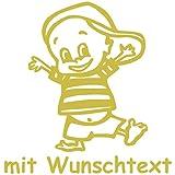 Babyaufkleber mit Wunschtext - Motiv 138 - 20 Farben und