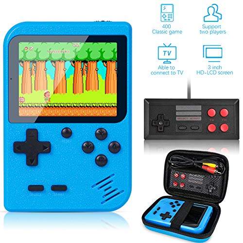 Handheld Game Console Retro Mini FC with 500 Classical Portable Game Big Screen Support on TV /& Two Players Black 90s//Exercise Intelligence for Kids and Adult Birthdays Gift(Red)