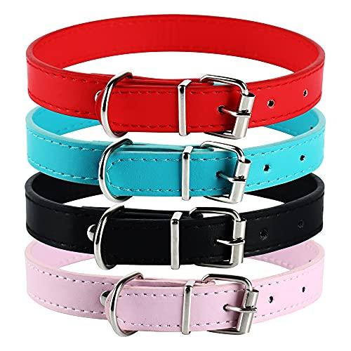 Collar para mascotas de piel sintética suave y colorido (52 cm)
