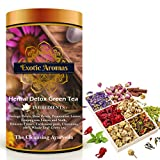 Exotic Aromas Herbal Detox Tea (100G Serves 50 cups), Green Tea for detox, weightloss with moringa, hibiscus, rosepetals and cardamom colon cleanse detoxes May, 2021