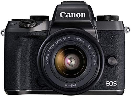 Canon EOS M5 Mirrorless Camera Kit 15-45mm Lens Kit -...