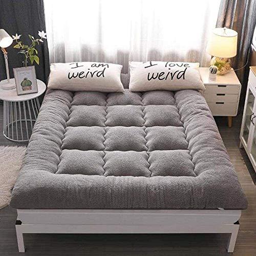 Kunyun Cama supletore Cama Extra o Cama Plegable Cama con Cable de Pat japonés futón colchón Cama Tatami Piso Mate Dormitorio Estudiante Antideslizante Copa m (Color : Gris, Talla : 120 * 200cm)