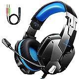 Auriculares Gaming PS4, Cascos Gaming con Micrófono, 3D Sonido y Reducción de Ruido,...