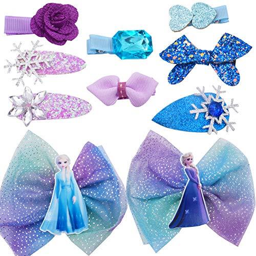 WENTS Horquilla Frozen 10PCS Accesorios para el Pelo Niña Adornos Azul Elsa Princesa Accesorios de Disfraces para el Cabello Regalos Originales para Niñas para Vestir a niñas pequeñas
