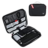 CATOREX Electronic Organizer Travel Universal Cable Accessories Case for Cable Organizer Electronics, Charger, Phone, USB, SD Card (Black)