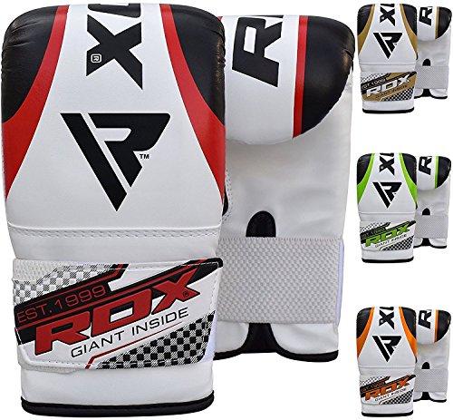 RDX Guantes Boxeo Cuero Kick Boxing Muay Thai Manoplas Sparring Entrenamiento Adulto Cuero Maya Hide Combate Punching Bag Gloves