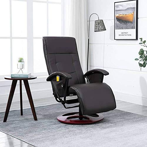 Massagesessel elektrischer Massagestuhl mit Wärmefunktion,360° drehbar Relaxsessel Wohnzimmer Kunstleder Fernsehsessel,5 Massagefunktion,3 Massagestufen,Verstellbares Liegestuhl TV-Sessel【DE Lager】