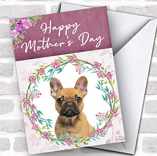 French Bulldog Dog Traditional Animal Personalized Mother's Day Greetings Card