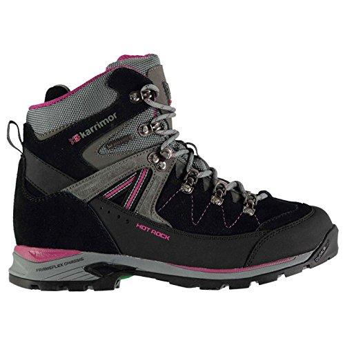 Karrimor Damen-Wanderschuhe Hot Rock, wasserdichte Trekkingschuhe., Grau - charcoal / pink - Größe: 39 1/3 EU