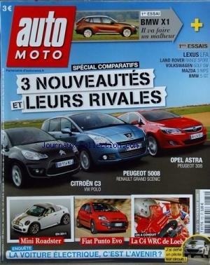 AUTO MOTO [No 172] du 01/11/2009 - 3 NOUVEAUTES ET LEURS RIVALES - CITROEN C3 - PEUGEOT 5008 - OPEL...