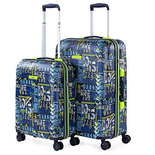 Lois - Juego de Maletas de Viaje Rígidas 4 Ruedas Trolley 55/66 cm abs. Candado TSA. Pequeña Cabina y Mediana. Marca 131700, Color Marino