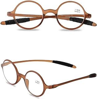 a986e3ddea VEVESMUNDO Gafas de Lectura Mujer Hombre Vintage Redondo Flexibles Pequeñas  Vista Presbicia 1.0 1.25 1.5 1.75