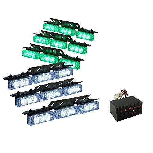 Dayiss 54LED Auto luz intermitente Flash Lámpara de alerta de haz de luz estroboscópica luz faros de advertencia