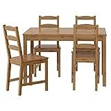 IKEA(イケア) JOKKMOKK 20211105 テーブル チェア4脚, アンティークステイン