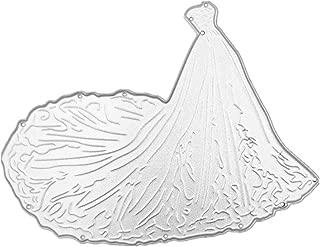 haninetrosty Carbon Steel Big Train Wedding Dress Cutting Die Embossing Stencil Template Mold DIY Paper Art Craft Scrapbook Bookmark Card Decor