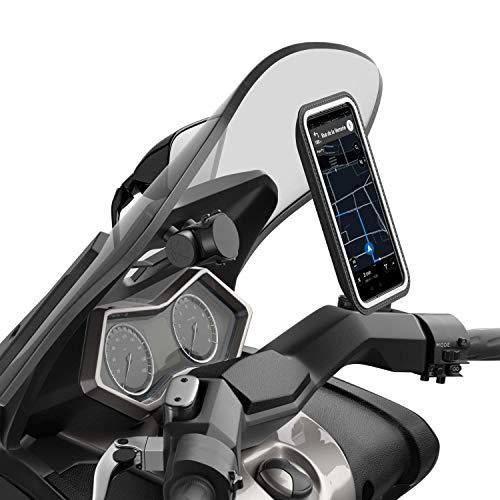 Shapeheart – Soporte magnético para Smartphone Scooter | Panel Central | Universal | Protege de la Lluvia | Compatible con Todas Las Marcas | Teléfono XL de hasta 16,8 cm