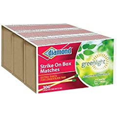 LARGE STRIKE ON BOX KITCHEN MATCHES 3 BOXES WITH 300 STRIKE ON BOX MATCHES PER BOX ASPEN WOOD SPLINT FOR A CLEAN BURN USE FOR FIREPLACE, CAMPING, EMERGENCY KIT, ETC
