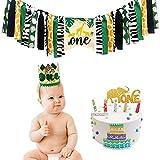 Decoración de fiesta de cumpleaños,Wild One Party Supplies Baby 1st Birthday Decoraciones Kit de decoraciones para fiesta de cumpleaños Jungle Safari Theme Suministros para fiestas Trona Banner