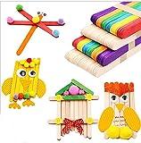 YYQLLXH 50 palitos de paletas de madera Helado hecho a mano para niños, Pastel de lollipop Cake Stick DIY Puzzle Haciendo diversión Regalos de juguete para niños-Vistoso_METRO