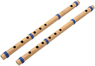 Blue Panther C Scale Bamboo Flute, Natural Medium, Set of 2 Flutes