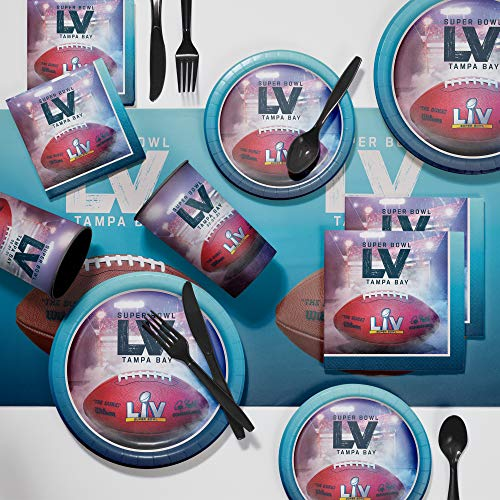 Super Bowl LV Deluxe Party Supplies Kit, Serves 24