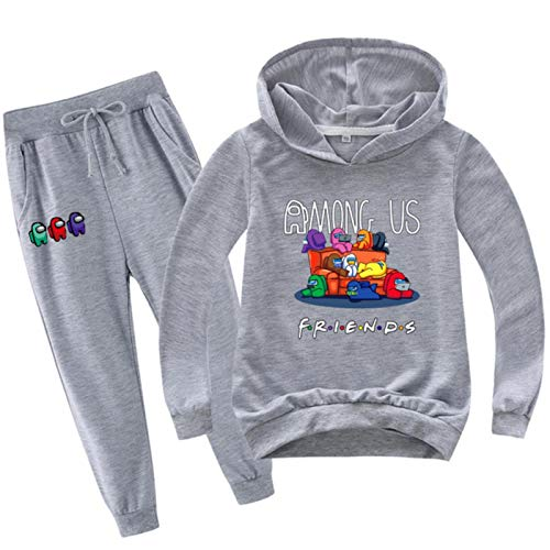 Dannel Baby Boy Clothes Kids Among Us Hoodies+Pants 2pcs Set Halloween Outfits for Girls Sportsuit Children Game Impostor Tracksuit