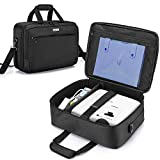 CURMIO Projector Case with Inner Divider, Projector Carrying Bag with Laptop Compartment Compatible with Most Major Projector, Bag Only, Black (Patented Design)