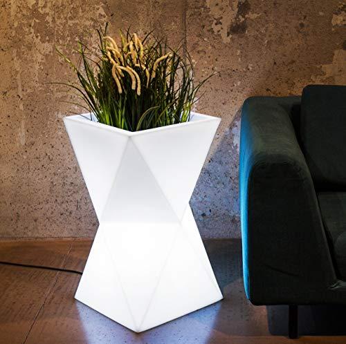 LED Blumentopf Valencia Indoor / Outdoor XXL - Pflanzentopf mit Beleuchtung ideal für Pflanzen Innen und Außen – Blumenkübel - Pflanzenkübel – Raumteiler oder Hochbeet