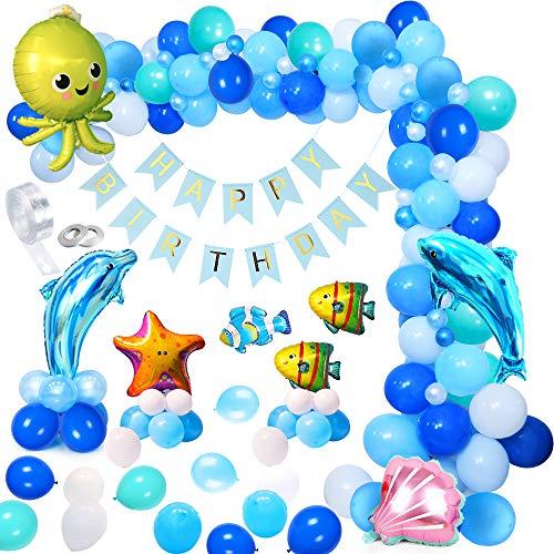 MMTX Globos de Fiesta Decoración Fiesta de cumpleaños del Tema mar Delfín...