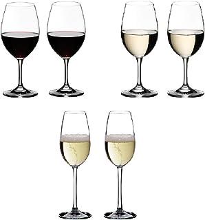 【セット買い】リーデル (RIEDEL) オヴァチュア レッドワイン350ml 2個 + ホワイトワイン280ml 2個 + シャンパーニュ260ml 2個