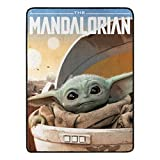 "The Mandalorian, Child Arrived Micro Raschel Throw Blanket, 46"" x 60"""