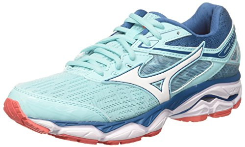 Mizuno Wave Ultima 9 Wos, Zapatillas de Running Mujer, Multicolor (Aquasplash/White/bluesapphire 20), 38 EU