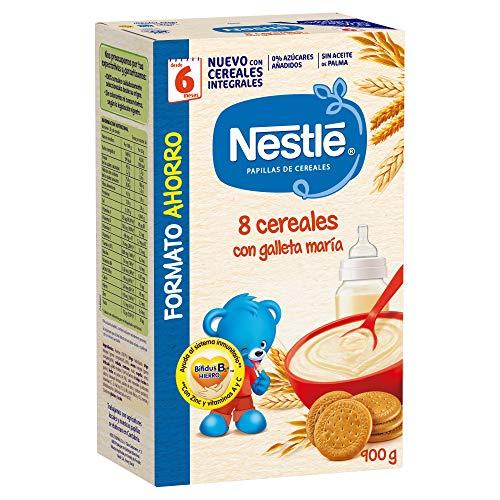 Nestlé Papilla 8 cereales con galleta María, Alimento Para bebés - 900...