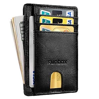 Minimalist Slim Front Pocket Wallets for Men with RFID Blocking & Genuine Leather