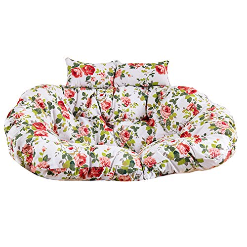YYEWA Egg Chairs Cushions Hanging Swing Hammock Chair Pads Chair Pad Loveseat Chair Mat with Pillow for Indoor Outdoor Bedroom Patio Garden,A,150 * 110cm