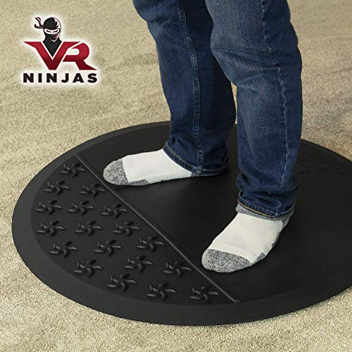 VR Ninjas Virtual Reality Mat for Position Orienting | VR Accessory | Braille for Your Feet! | Improve Your Game | Increase Comfort | Prevent Hitting Objects | Room Scale Play | FR VR XR AR