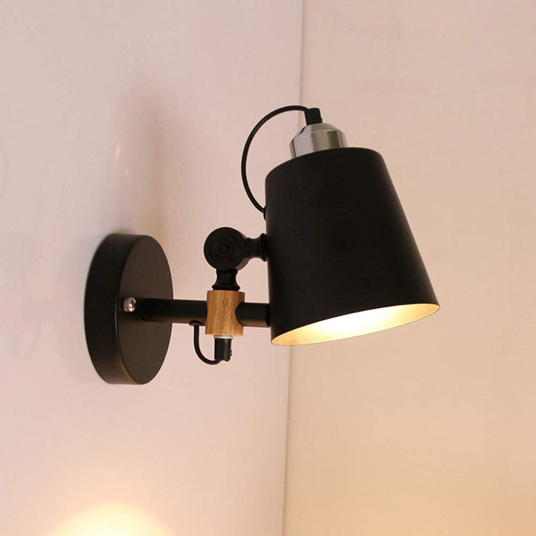 Kreative wohnzimmer TV wand LED wandleuchte Einfache schlafzimmer studie holzwandleuchte, schwarz