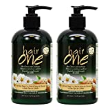 Hair One Hair Cleanser and Conditioner for All Hair Types with Sweet Almond Oil 355ml / 12oz'Pack of 2'