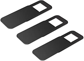 Webcam Cover-Webcam Cover Slide Laptop Camera Cover Slide for iPhone Android Laptops Mac Books PCs Tablets Smartphones Covers Your Camera for Privacy Security Black 3 Pack