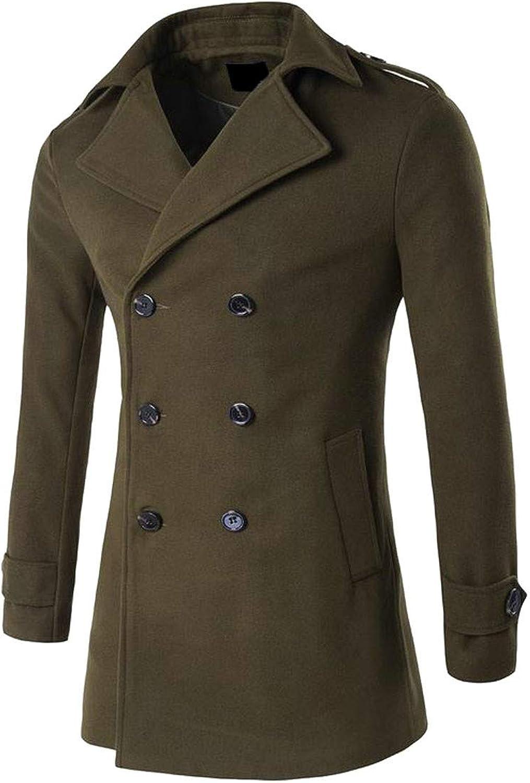 d3aa91e9103 XiaoTianXinMen XTX Men Autumn Lapel Outwear Double Double Double Breasted  Woolen Casual Trench Coat 840ba2