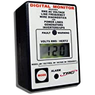 TRC AECM20020-3-012 Electra Check Digital Monitor for All AC Power Sources, Black with White Face