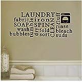 Waschküche Seife Faltschaum Trocknen Kunstdekoration PVC Wandaufkleber 76x30cm