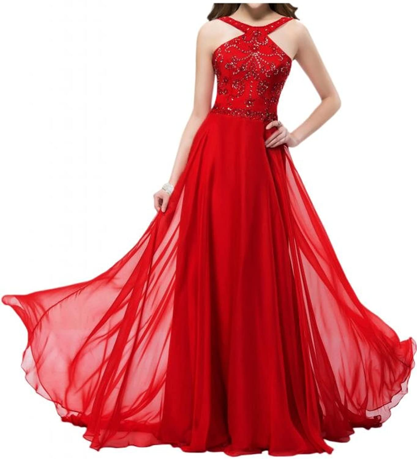 Angel Bride Hot Graceful Chffion Train Beadings Prom Dresses Evening Dresses