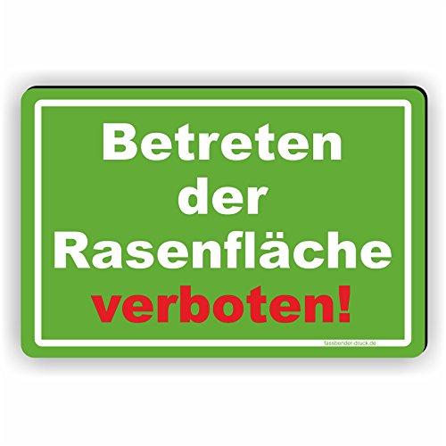 Fassbender-Druck SCHILDER Betreten der Rasenfläsche verboten! - Schild/D-036 (30x20cm Schild)