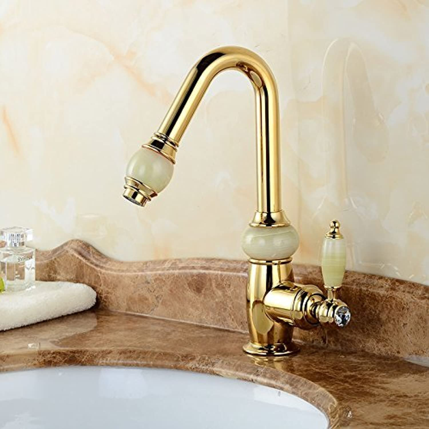 Pull Out The wash Basin taps Crane Copper, gold Sinks Sinks and hot & Cold Shower Mixer Bathroom Faucet a Mounted Bridge, gold