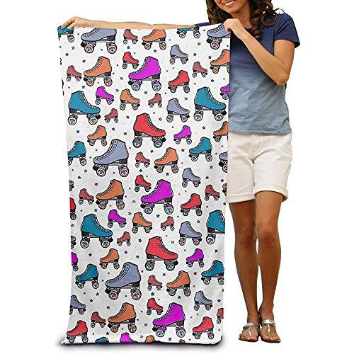 Leo-Shop Strandtuch WrapRetro Rollschuhe ColourfulAbsorbent Schnelltrocknende SPA Handtücher Badeanzug Badeanzug und Duschtuch Stranddecke