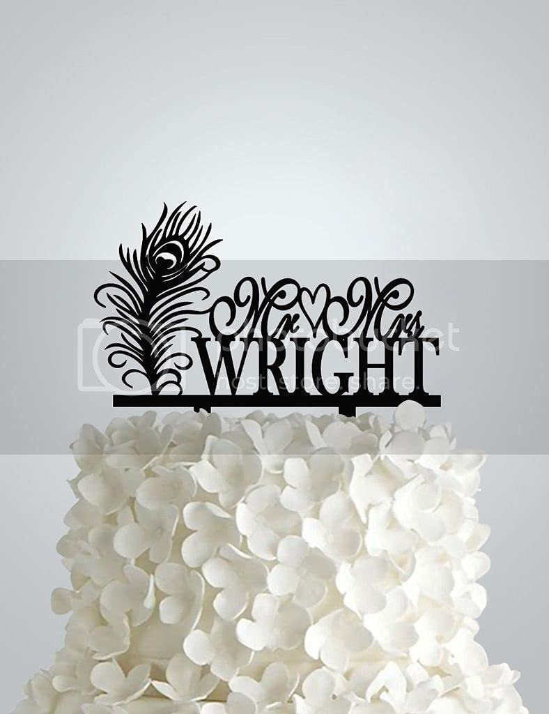 Wedding Cake Topper Outlet ☆ Free Shipping Peacock Feather Sale SALE% OFF